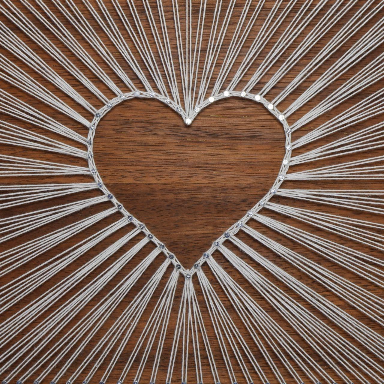 string art heart wood art and craft