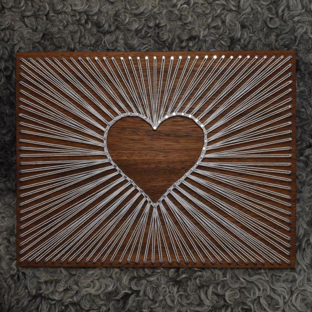 string art heart craft